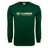 Dark Green Long Sleeve T Shirt-Horizontal Mark