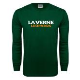 Dark Green Long Sleeve T Shirt-Wordmark