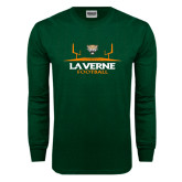 Dark Green Long Sleeve T Shirt-Football Design