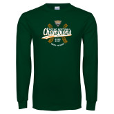 Dark Green Long Sleeve T Shirt-SCIAC Softball Champions