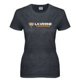 Ladies Dark Heather T Shirt-Horizontal Mark