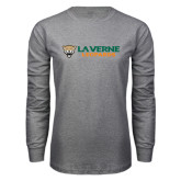 Grey Long Sleeve T Shirt-Horizontal Mark