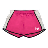 Ladies Fuchsia/White Team Short-LV