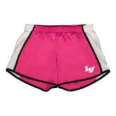 Ladies Fuchsia/White Team Short-LV