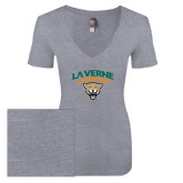 Next Level Ladies Vintage Heather Tri Blend V Neck Tee-Official Logo
