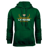 Dark Green Fleece Hood-Football Design