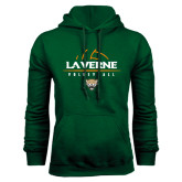 Dark Green Fleece Hood-Volleyball Design