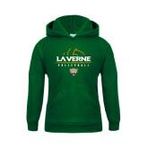 Youth Dark Green Fleece Hoodie-Volleyball Design