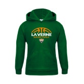 Youth Dark Green Fleece Hoodie-Basketball Design