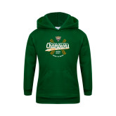 Youth Dark Green Fleece Hoodie-SCIAC Softball Champions