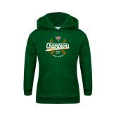 Youth Dark Green Fleece Hoodie-SCIAC Softball Champions
