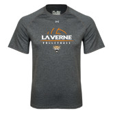 Under Armour Carbon Heather Tech Tee-Volleyball Design