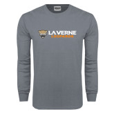 Charcoal Long Sleeve T Shirt-Horizontal Mark
