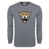 Charcoal Long Sleeve T Shirt-Leopard Head