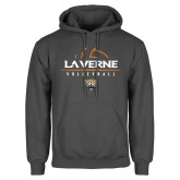 Charcoal Fleece Hoodie-Volleyball Design