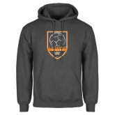 Charcoal Fleece Hoodie-Soccer Design