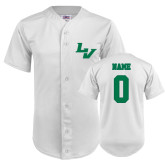 Replica White Adult Baseball Jersey-Personalized