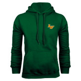 Dark Green Fleece Hood-LV