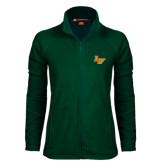 Ladies Fleece Full Zip Dark Green Jacket-LV