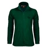 Ladies Fleece Full Zip Dark Green Jacket-LV