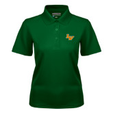 Ladies Dark Green Dry Mesh Polo-LV