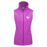 Columbia Ladies Full Zip Lilac Fleece Vest-LV