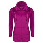 Ladies Sport Wick Stretch Full Zip Deep Berry Jacket-LV