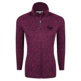 Dark Pink Heather Ladies Fleece Jacket-LV
