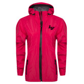 Ladies Dark Fuchsia Waterproof Jacket-LV