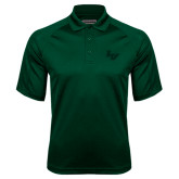 Dark Green Textured Saddle Shoulder Polo-LV