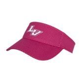 Pink Athletic Mesh Visor-LV