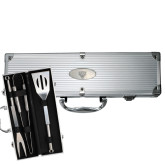 Grill Master 3pc BBQ Set-Leopard Head Engraved