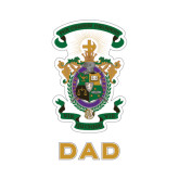 Dad Decal-Coat of Arms, 8 inches wide