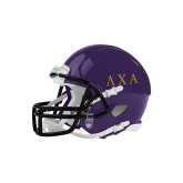 Riddell Replica Purple Mini Helmet-Greek Letters