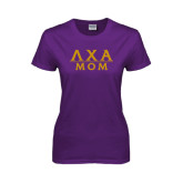 Ladies Purple T-Shirt-Mom