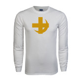 White Long Sleeve T Shirt-Crescent