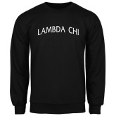Black Fleece Crew-Lambda Chi Arch