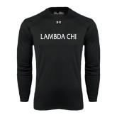 Under Armour Black Long Sleeve Tech Tee-Lambda Chi Flat