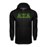 Under Armour Black Performance Sweats Team Hoodie-Greek Letters Bold