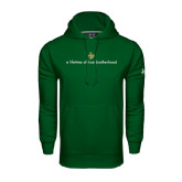 Under Armour Dark Green Performance Sweats Team Hoodie-Lifetime of True Brotherhood
