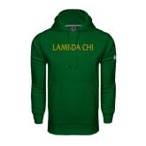 Under Armour Dark Green Performance Sweats Team Hoodie-Lambda Chi Flat