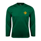 Performance Dark Green Longsleeve Shirt-Crescent