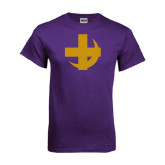 Purple T Shirt-Crescent