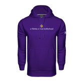 Under Armour Purple Performance Sweats Team Hoodie-Lifetime of True Brotherhood