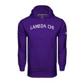 Under Armour Purple Performance Sweats Team Hoodie-Lambda Chi Arch