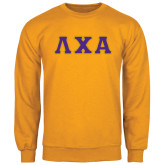Gold Fleece Crew-Greek Letters Bold