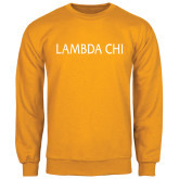Gold Fleece Crew-Lambda Chi Flat