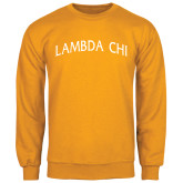 Gold Fleece Crew-Lambda Chi Arch