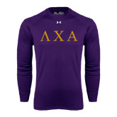 Under Armour Purple Long Sleeve Tech Tee-Greek Letters
