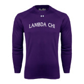 Under Armour Purple Long Sleeve Tech Tee-Lambda Chi Arch